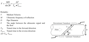 Prinsip Ultrasonic Flow Meter