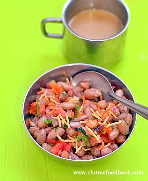 Boiled peanut chaat recipe