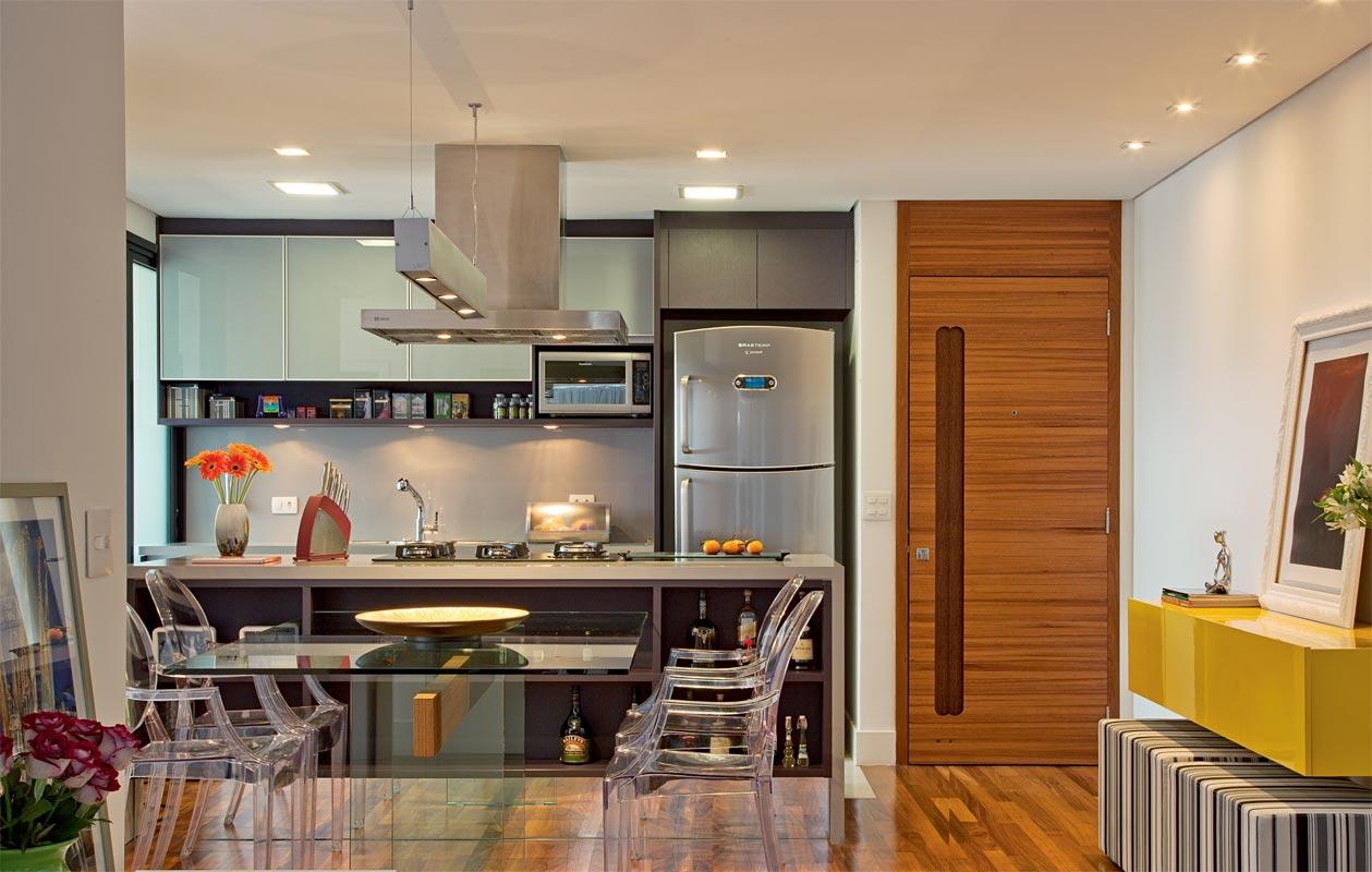 Como Integrar Sala E Cozinha Em 6 Dicas Papo De Design -> Meia Parede Entre Sala E Cozinha