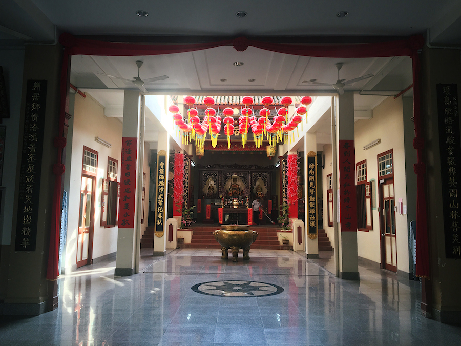 A worship hall in Cheng Hoon Temple Malacca Malaysia