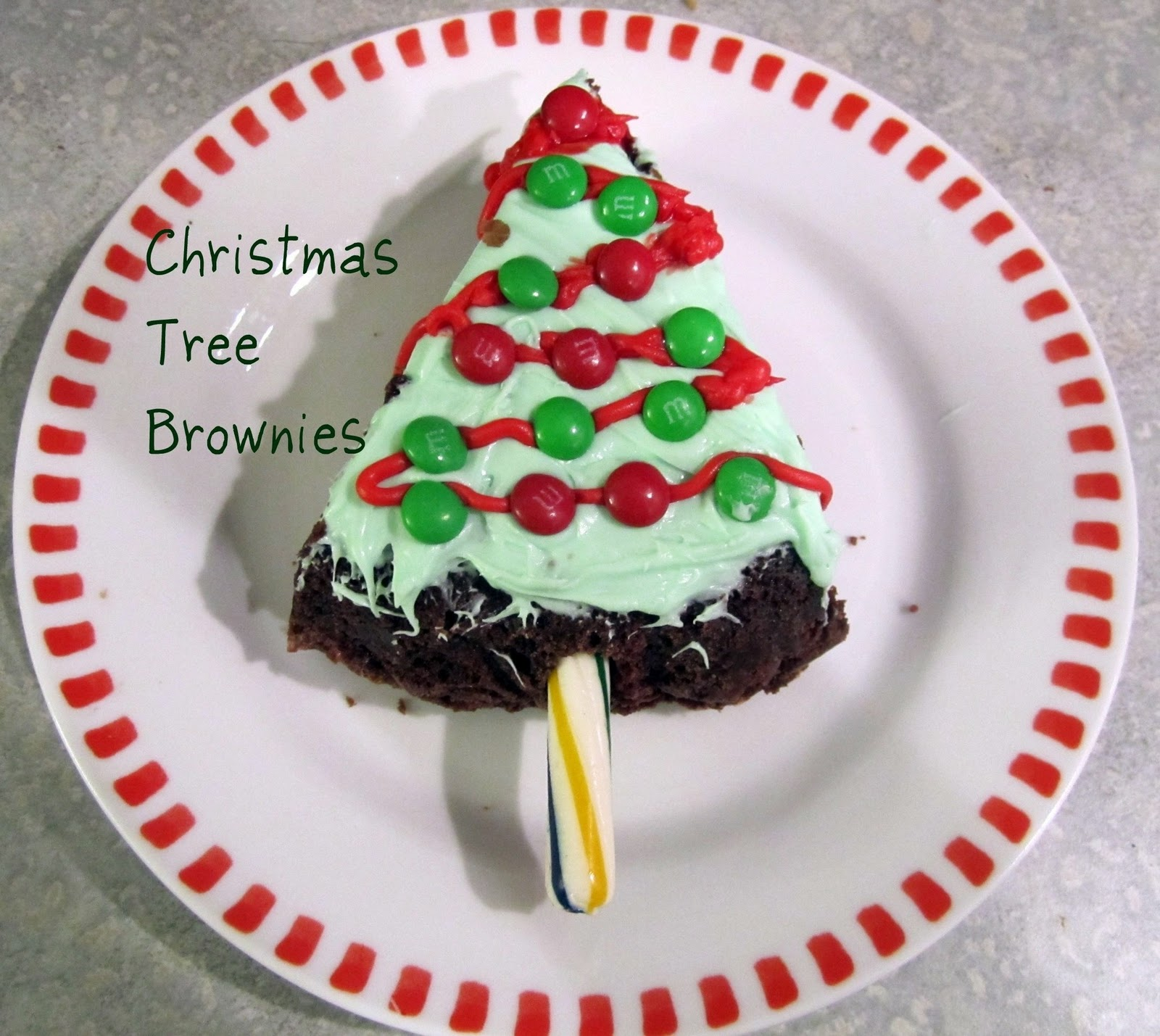 Mint Chocolate Christmas Tree Brownies