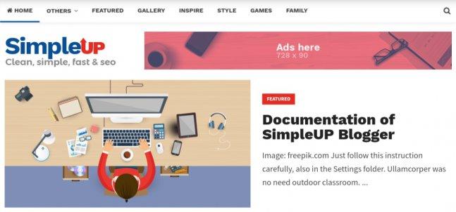 Simpleup-blogger-template