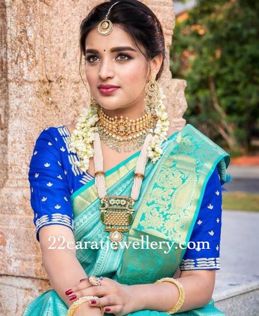 Nidhhi Agarwal Pearls Haram