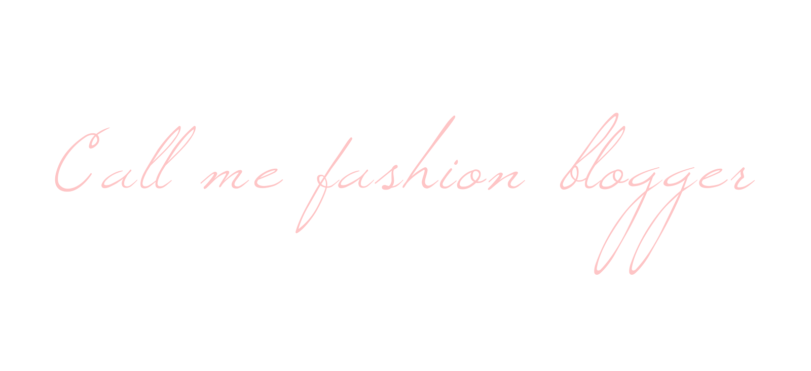 Call me fashion blogger: fashion, books and photography