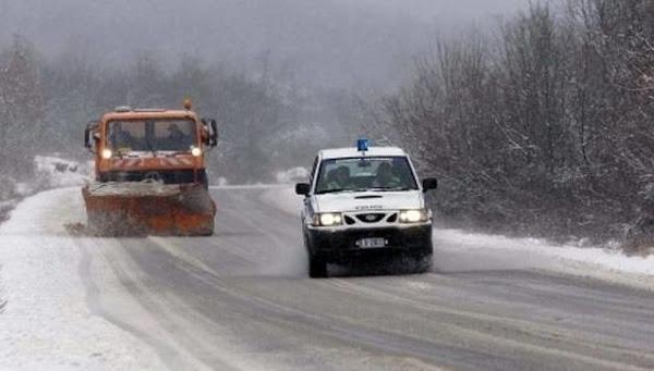 Διακοπή κυκλοφορίας των φορτηγών στην Εθνική Οδό. Που χρειάζονται αλυσίδες στο Εθνικό και Επαρχιακό Δίκτυο