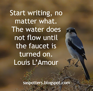 Start writing. The water does not flow until the faucet is turned on.