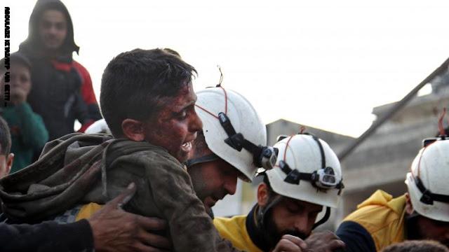 الدفاع الروسية تنفي اتهامات الخوذ البيضاء بشأن قصفها أهدافا مدنية في إدلب