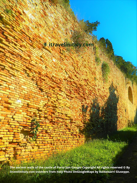 The ancient walls of the castle of Porto San Giorgio Copyright All rights reserved © By itravelinitaly.com travelers from Italy Photo OnGoogleMaps by Baldassarri Giuseppe.