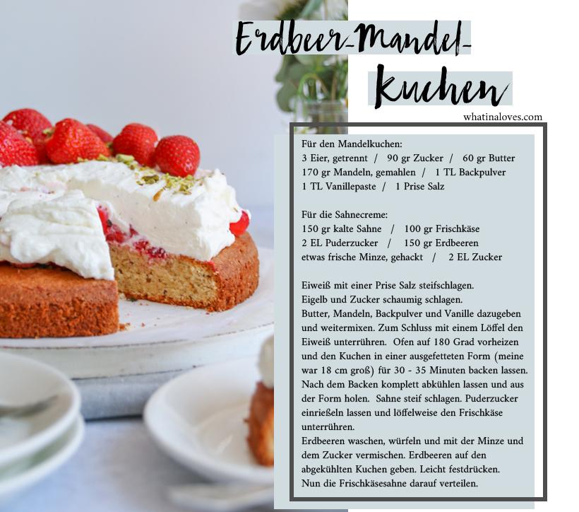glutenfreier Mandelkuchen mit Erdbeeren