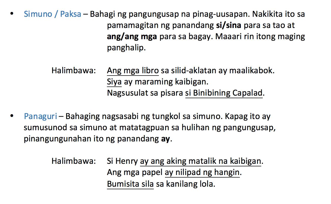 Worksheet In Filipino Si At Sina