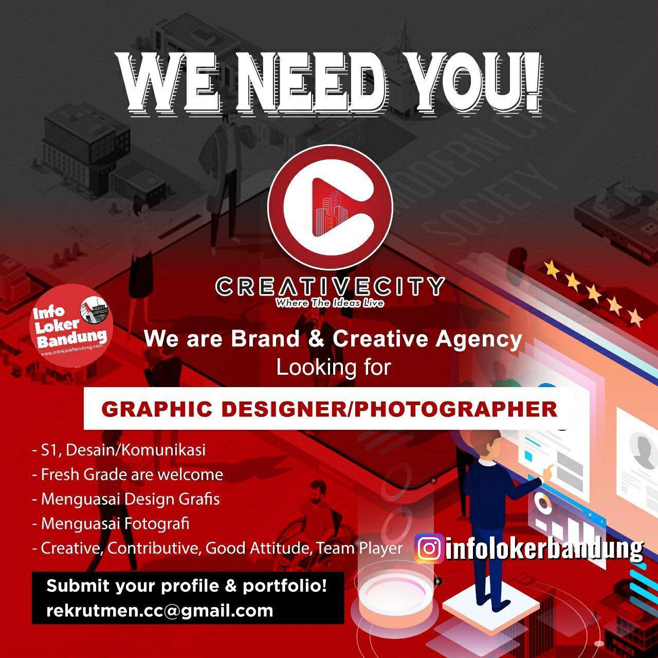 Lowongan Kerja Graphic Designer & Photographer Creative City Bandung Januari 2020