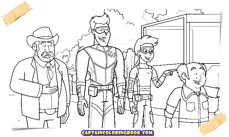 The Adventures Of Kid Danger Coloring Book