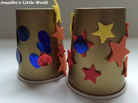 Chinese New Year simple paper cup lanterns craft