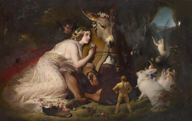 Σκηνή από το Όνειρο Καλοκαιρινής Νύχτας του Σαίξπηρ, πίνακας του Edwin Landseer [1851]