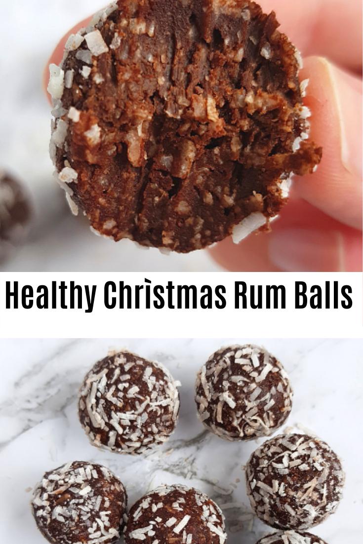 Healthy Chrìstmas Rum Balls
