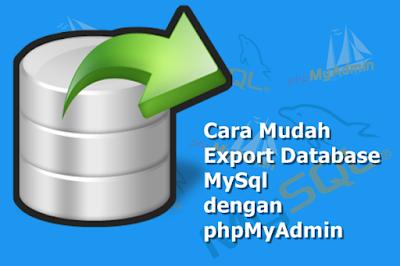 Cara Mudah Export Database MySql dengan phpMyAdmin