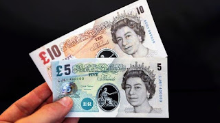 New British polymer plastic notes