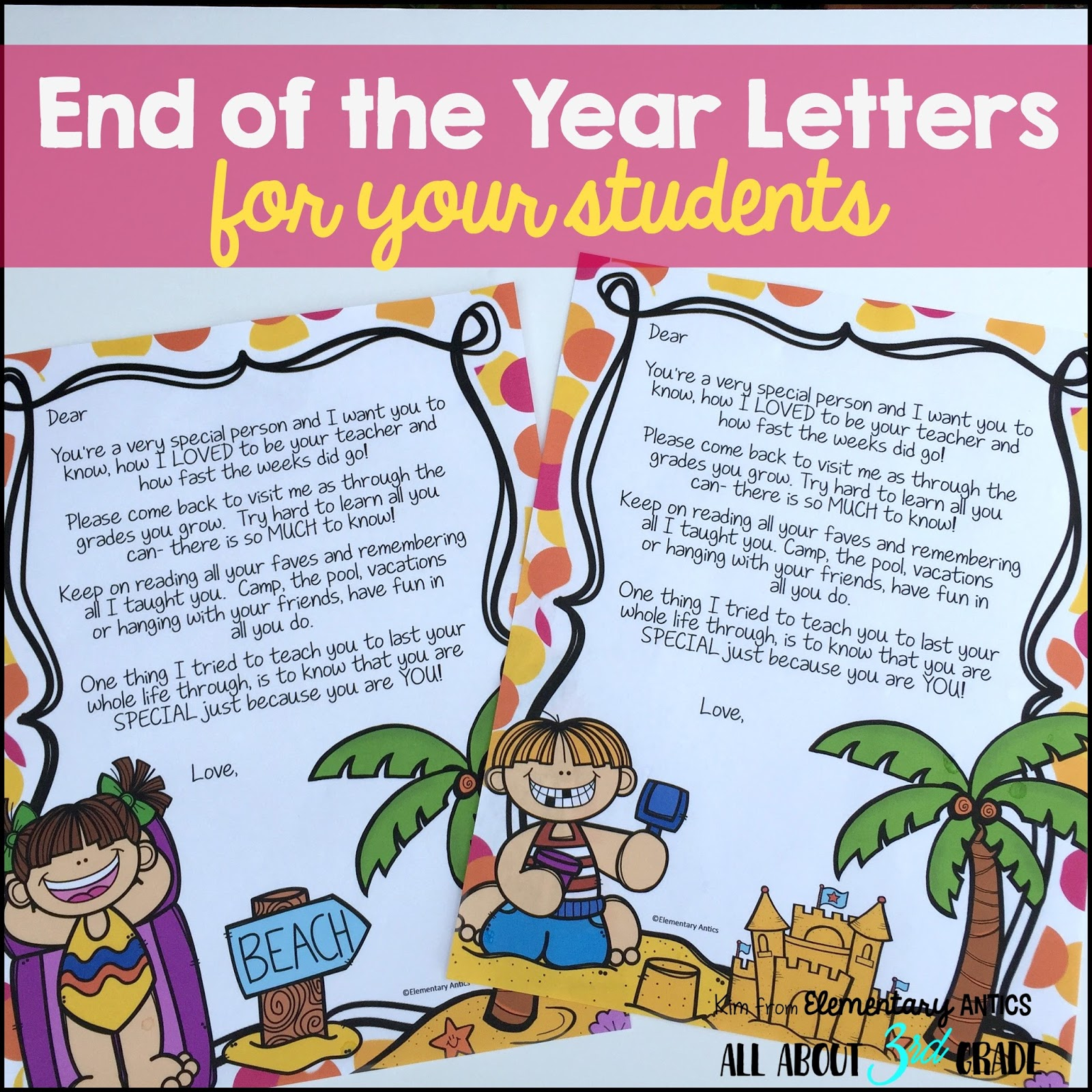 This is a great end of the year surprise for you students! The kids love getting real mail in their mailbox from their teacher!