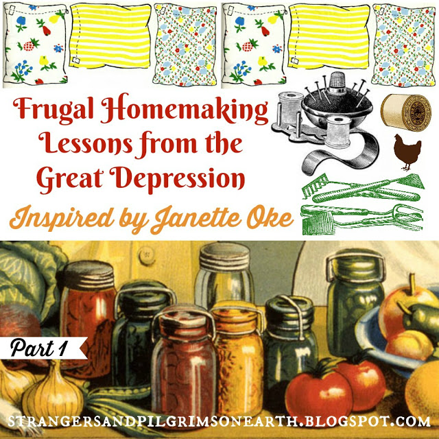 Depression Era Homemaking Lessons