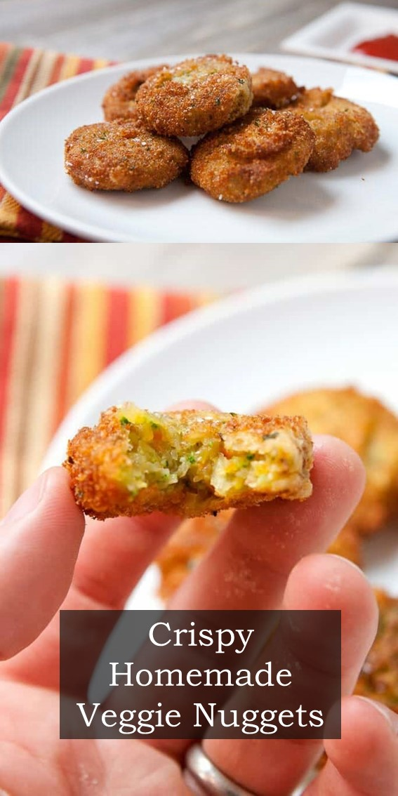 Crispy Homemade Veggie Nuggets #Nuggets #Vegetable #Healthy