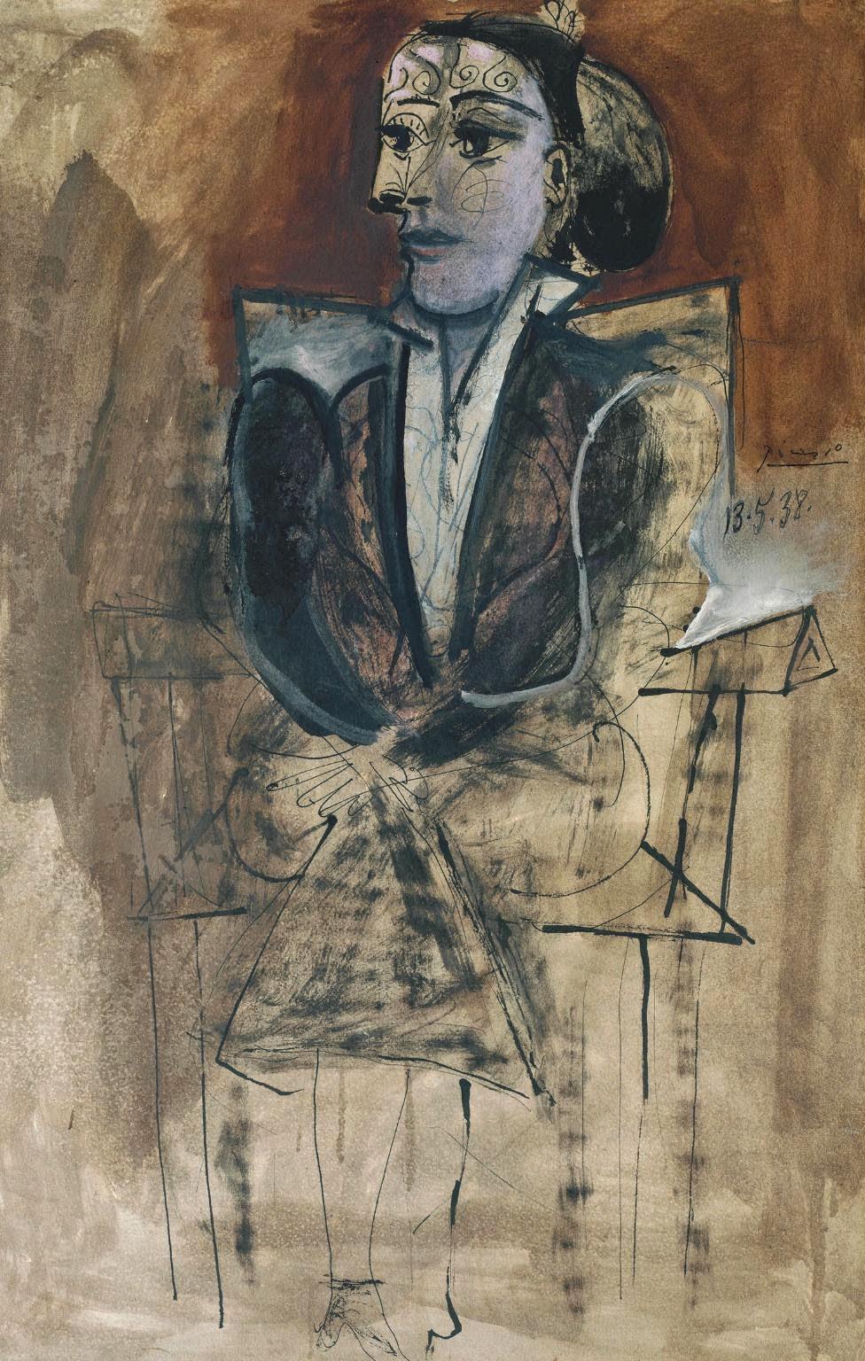 Dora Maar Sentada - Picasso e suas pinturas ~ O maior expoente da Arte Moderna