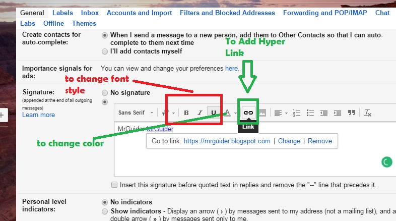 how to change your signature on gmail email