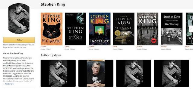 Хороший пример  - загадочность образа Стивена Кинга, сразу создает нужный посыл