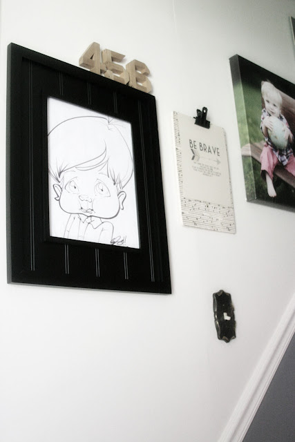 Stairway Gallery Wall with Family Photos // Craftivity Designs