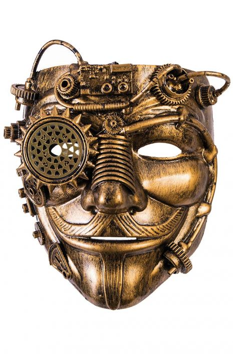 Steampunk-Inspired Moustached Mask