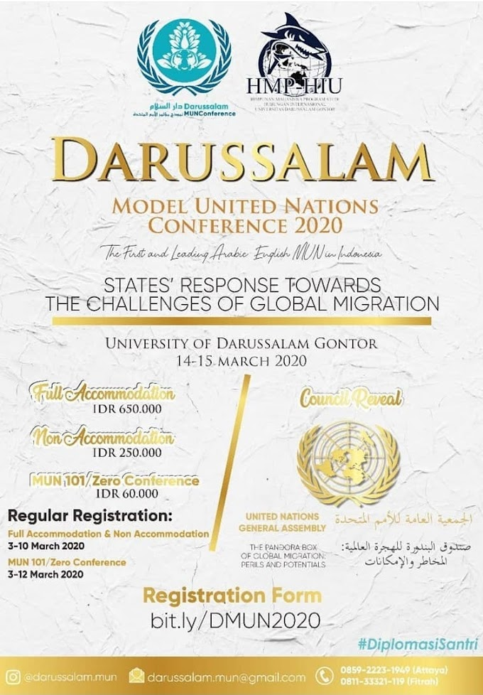 Darussalam Model United Nations Conference 2020