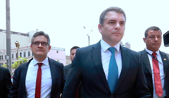 Fiscales Domingo Pérez, y Rafael Vela