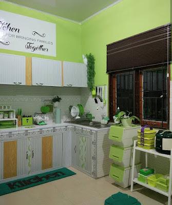 Desain Interior Dapur Nuansa Hijau minimalis