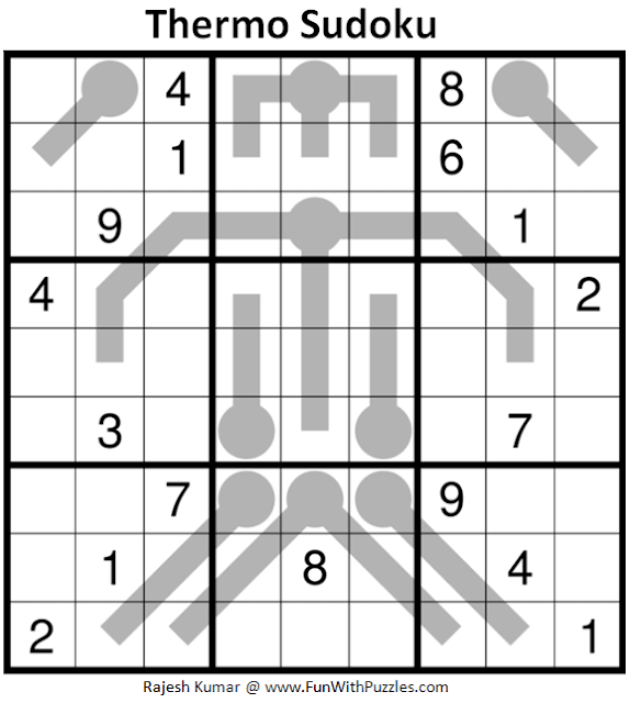 Thermometer Sudoku Puzzle (Fun With Sudoku #379)