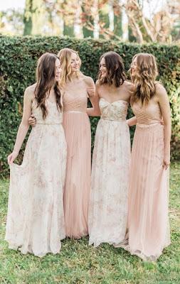 Vestidos de damas de honor largos