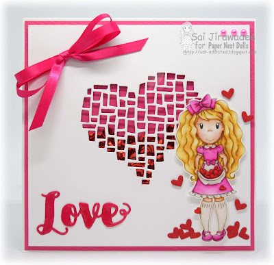 PND Avery with Hearts Shaker Card