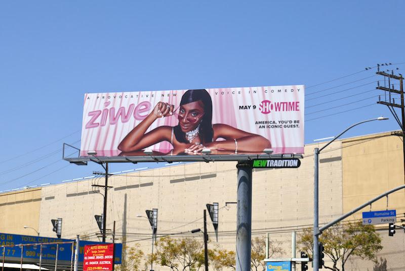 Ziwe Showtime series billboard