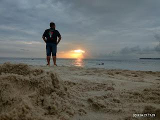 Sunset di Pulau Semak Daun