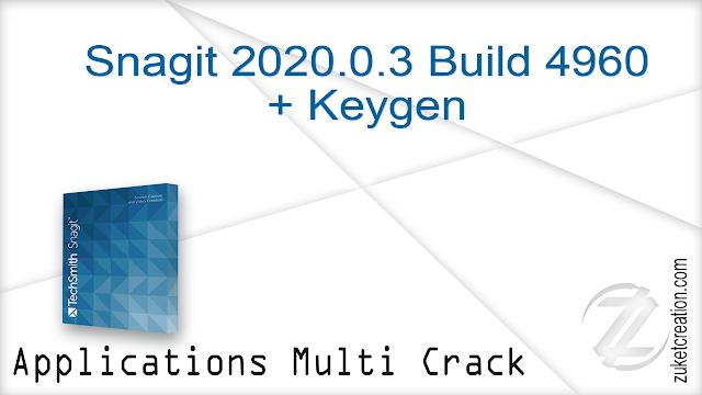 TechSmith Snagit 2020.0.3 Build 4960 + Keygen