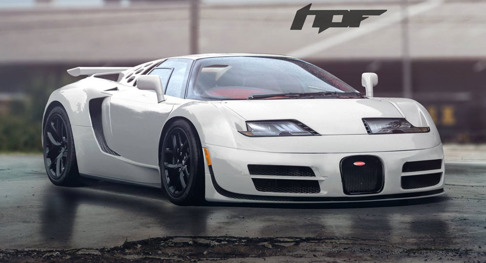 Bugatti Veyron And Eb110 Mashup Looks Surprisingly Good