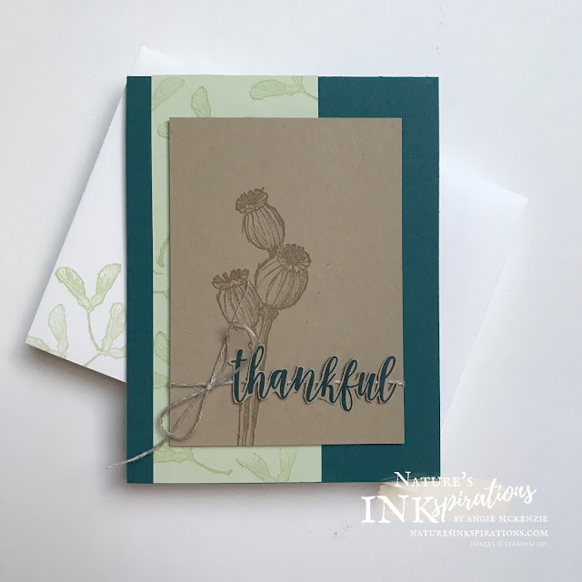By Angie McKenzie for Ink and Inspiration Blog Hop; Click READ or VISIT to go to my blog for details! Featuring the Enjoy the Moment Cling Stamp Set by Stampin' Up!®; #enjoythemomentstampset #countryhomestampset #sweeticecreamstampset #gratitude #stampinupcolorcoordination #inkandinspirationbloghop #simplestamping #thankyoucards #seedpods #nature #naturesinkspirations #janjun2021minicatalog #2020annualcatalog #bloghops #iibh #stampinup  #handmadecards