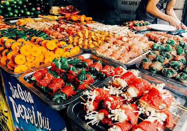 Khu ẩm thực chợ mới Sapa