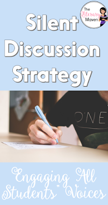 Using a silent discussion strategy allows for all students' voices to be heard and for the assessment of individual understanding of a text. Students practice agreeing or disagreeing and providing textual evidence just as they would in an oral discussion.