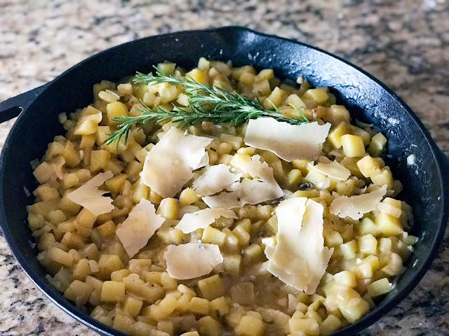 Risotto Style Yukon Gold Potatoes with Lavender and Rosemary