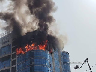 नवी मुंबईतील रियल टेक पार्क टॉवरला लागलेल्या भीषण आगीत कोणतीही जीवितहानी झाली नाही