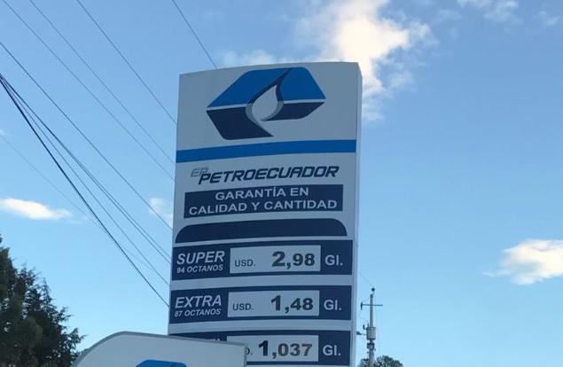 gasolina super precio ecuador
