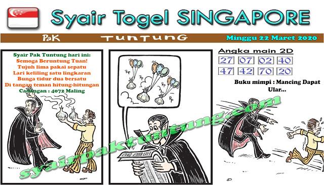Prediksi Singapore Minggu 22 Maret 2020 - Prediksi SGP Pak Tuntung