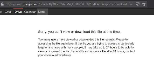 Limit Pada Google Drive