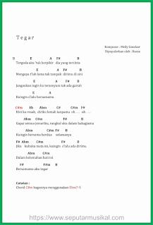 chord lagu tegar rossa