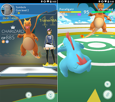 Tampilan Game Pokémon GO