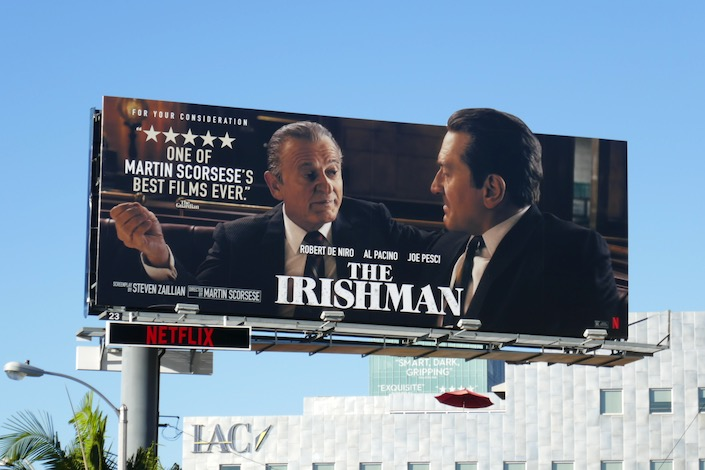 Irishman FYC extension cut-out billboard